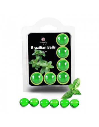 6 Brazilian Balls Menthe 3386-8