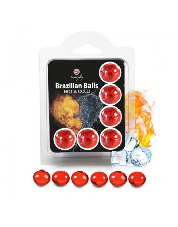 6 Brazilian Balls Cold Hot effect  3629-1