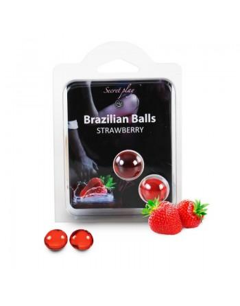 Duo Brazilian Balls Fraise 3385-7