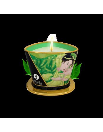 Bougie de massage lueur et caresses - Zenitude Thé vert exotique